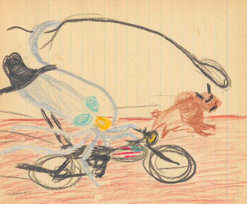 President Squid got a Harley chopper, and then he rode back to Cowboy Times and caught the last buffalo and ate him!