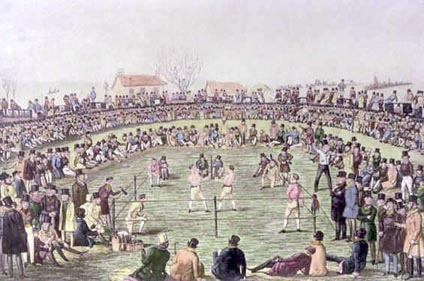 A huge bout that drew the attention of many hundreds of spectators to the Spitalsfield grass.